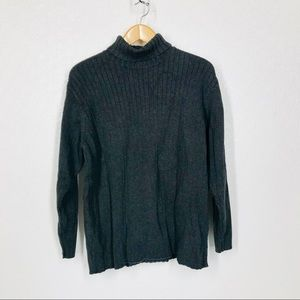 3/$15 Charcoal Grey Turtleneck Ribbed Sweater XXL